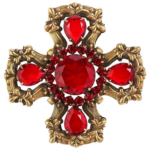 c.1940's Maltese Cross Brooch Pin