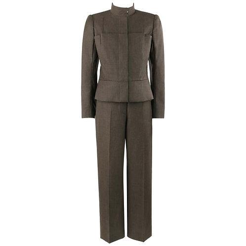 Alexander McQueen Pleated Blazer Pant Suit