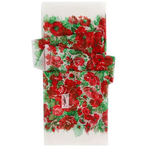 Yves Saint Laurent Floral Scarf