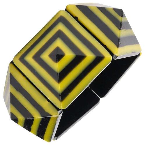 1980's Lucite Geometric Stretch Bracelet