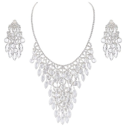 Juliana D&E For Vendome Rhinestone Necklace Earring Set