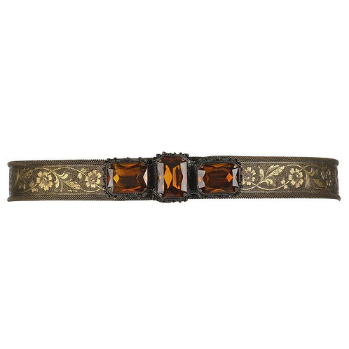 Victorian Revival c.1930's Jeweled Belt
