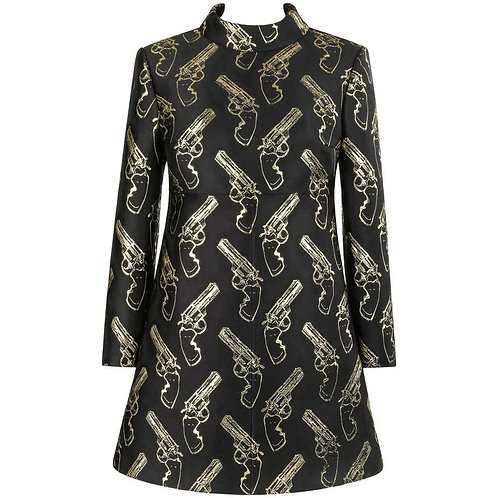 Saint Laurent Gun Print Mini Dress
