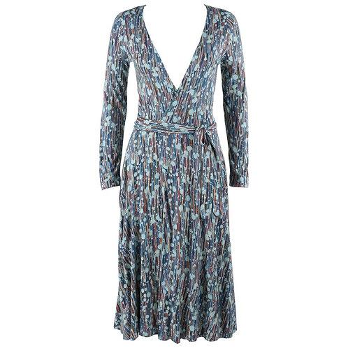 Diane von Furstenberg Painterly Print Wrap Dress