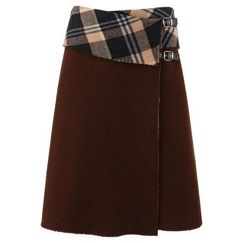 Alexander McQueen Wool Wrap Skirt