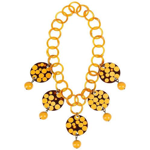 Charles Elkaim Bakelite Link Necklace