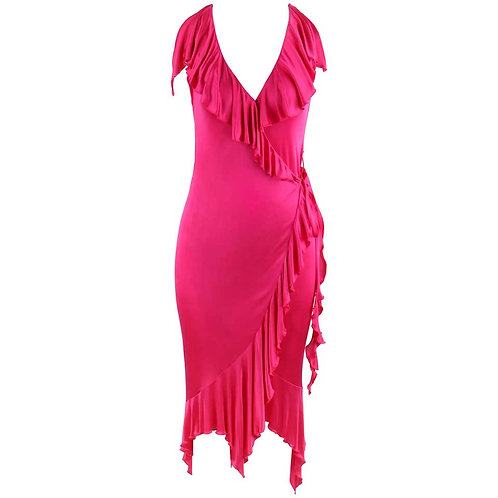 Versace Ruffle Wrap Dress