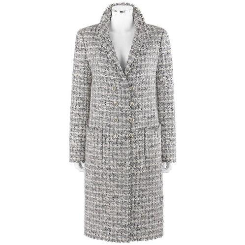 Chanel Tweed Boucle Box Coat