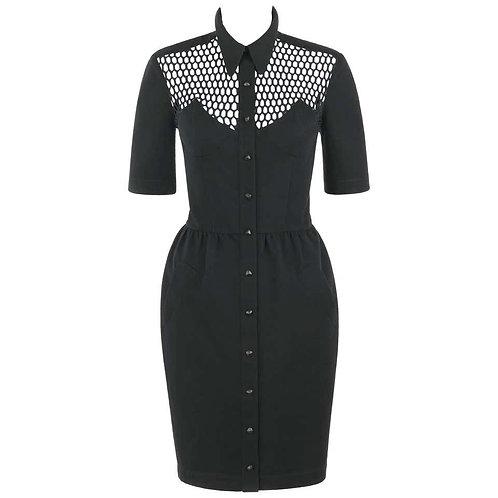 Thierry Mugler Illusion Shirt Dress