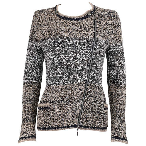 Chanel Asymmetrical Zip Knitwear Jacket