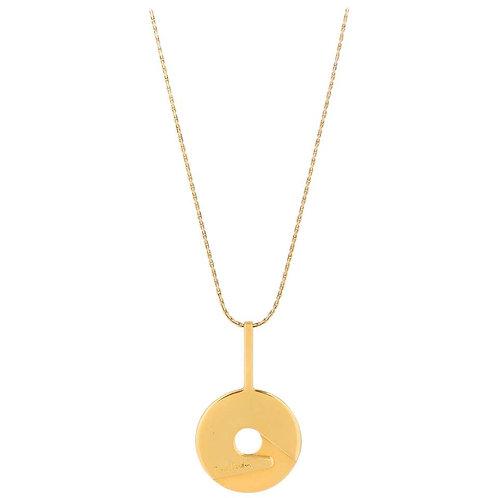 Pierre Cardin Disc Pendant Necklace