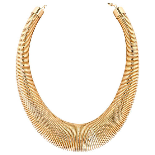 Versace Ugo Correani Coil Spring Necklace