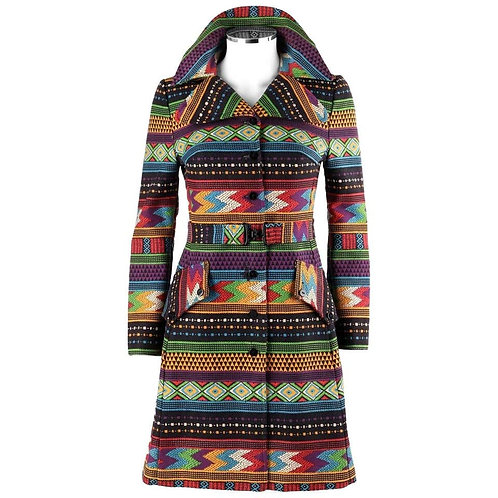 Carol Cohen For Galapago Tribal Coat