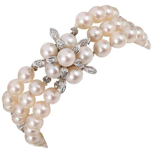 Cultured Pearl 14kt White Gold Bracelet