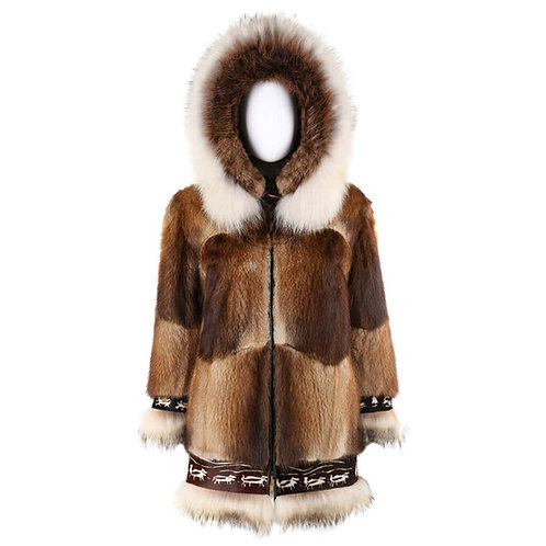 David Green Fur Alaskan Parka Coat
