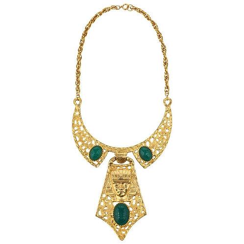 Hattie Carnegie Egyptian Pharaoh Necklace