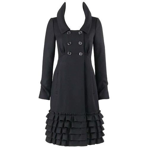 Louis Vuitton Ruffle Hem Coat