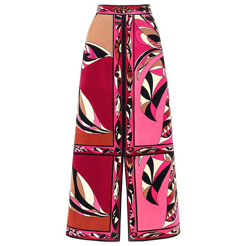Emilio Pucci Velvet Print Maxi Skirt
