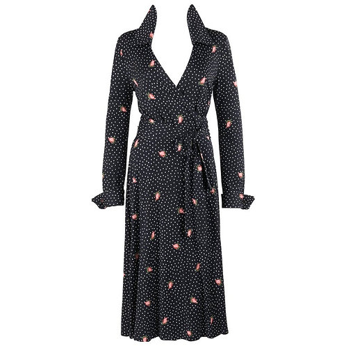 Diane von Furstenberg Polkadot Rosebud Wrap Dress