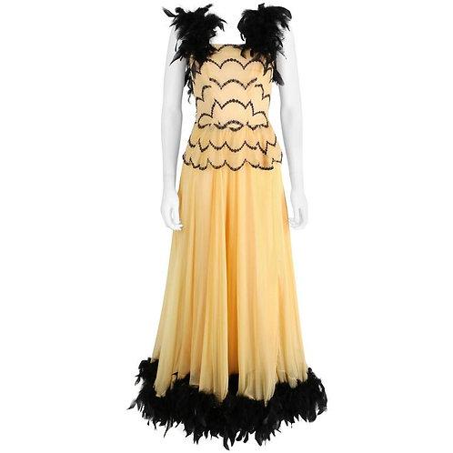 c.1930-40's OOAK Evening Gown
