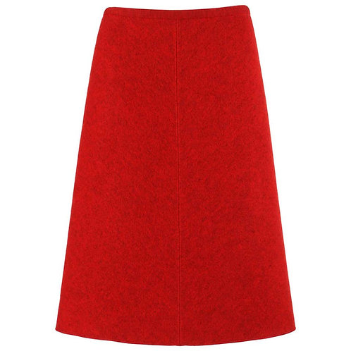 Alaia Boiled Wool A-Line Skirt
