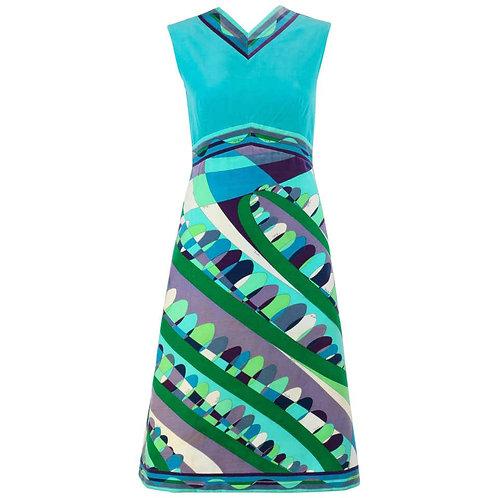 Emilio Pucci Velvet Op Art Dress