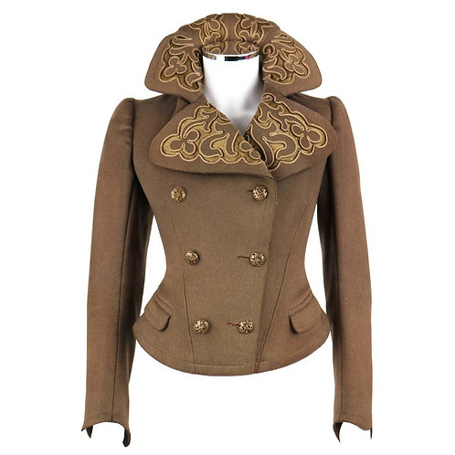 Couture Edwardian Wool Military Jacket