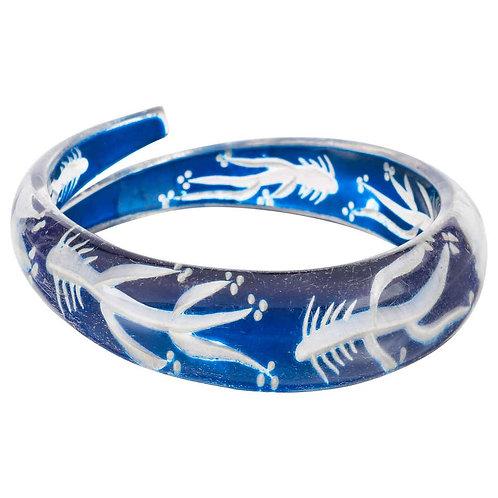 Vintage Hand Carved Fish Bone Bracelet