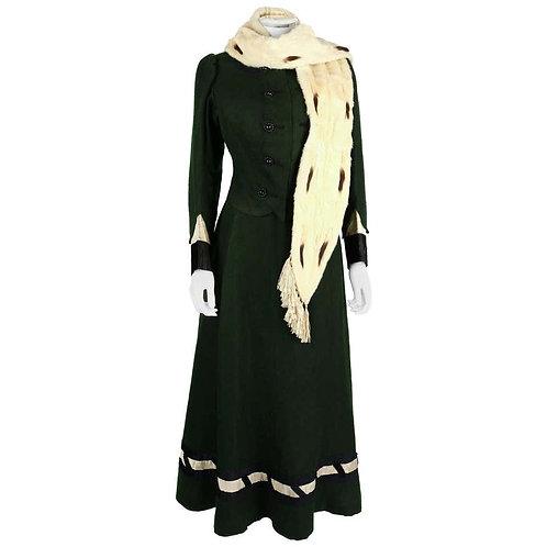 Victorian Edwardian Winter Suit & Fur Stole