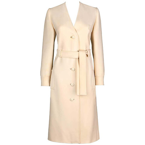 Valentino Boutique Wool Belted Coat Dress