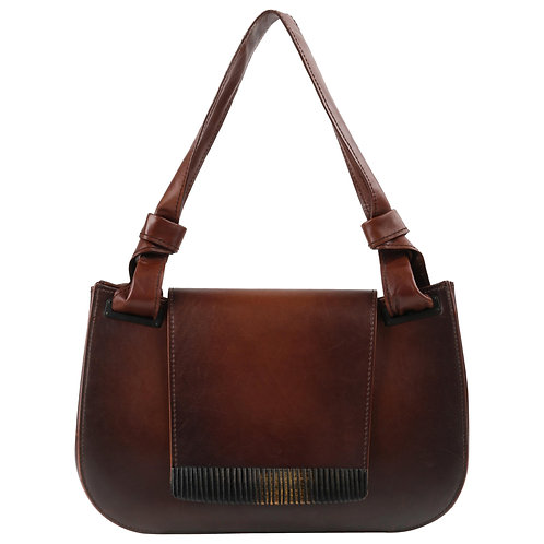 Gucci Leather & Bamboo Shoulder Bag