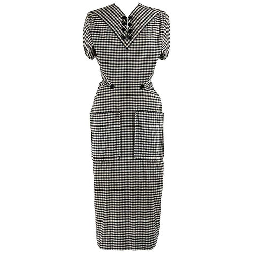 Jacques Fath S/S 1949 Gingham Dress