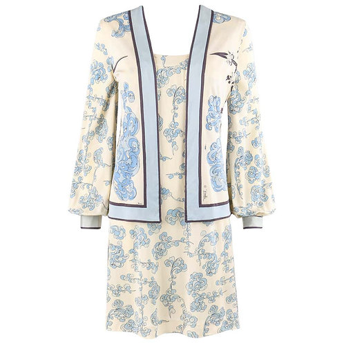 Emilio Pucci Baby Doll Dress & Vest Set