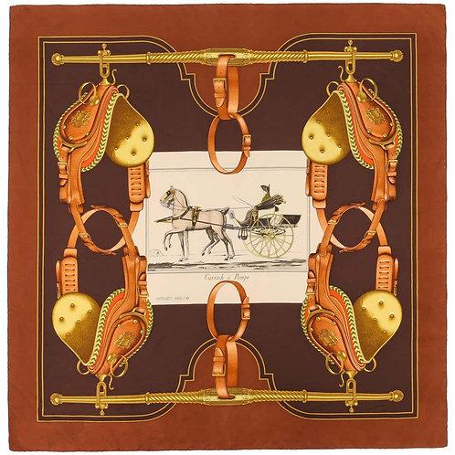 "Hermes ""Carrick A Pompe"" Silk Scarf"