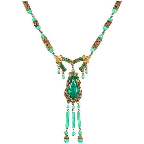 Art Deco c.1920's Glass Bead Necklace