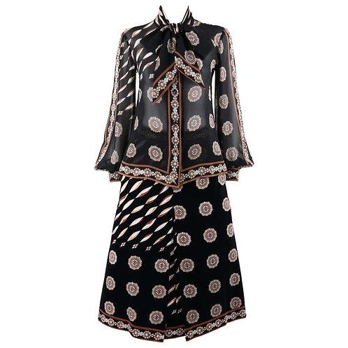 Emilio Pucci Blouse Skirt Set
