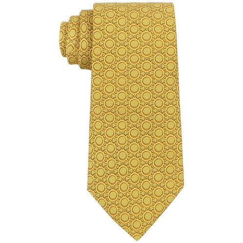 Hermes Geometric Print Necktie
