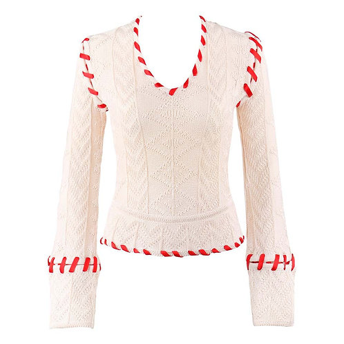 Alexander McQueen Ribbon Stitched Sweater