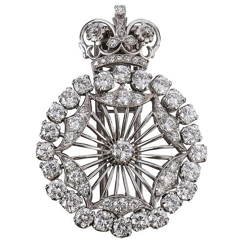 BOUCHERON 1940's Paris Diamond Platinum Brooch