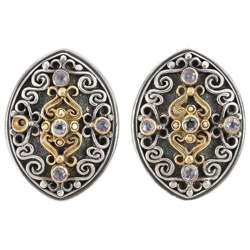 Konstantino Sterling Silver & 18K Gold Amethyst Earrings