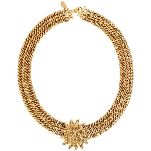 Chanel Lion Sun Pendant Necklace