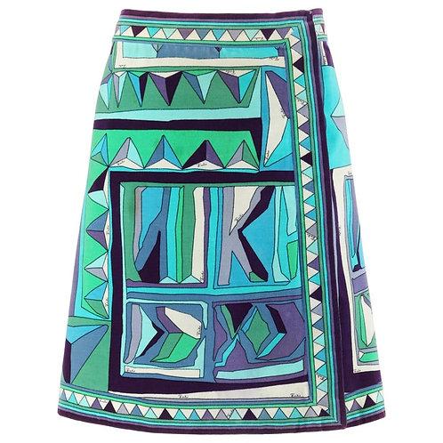 Emilio Pucci A-Line Wrap Skirt