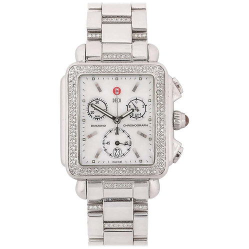 "Michele ""Deco"" Diamond Band Watch"
