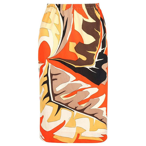 Emilio Pucci African Leaf Jersey Skirt