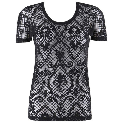 Versace Baroque Mesh T-Shirt