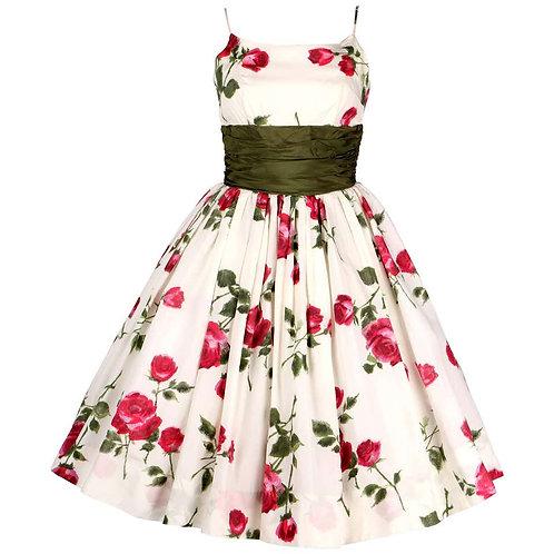 1950's Rose Garden Party Dress