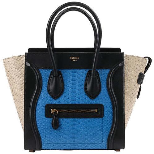 "Celine ""Micro Luggage Tote"" Handbag"