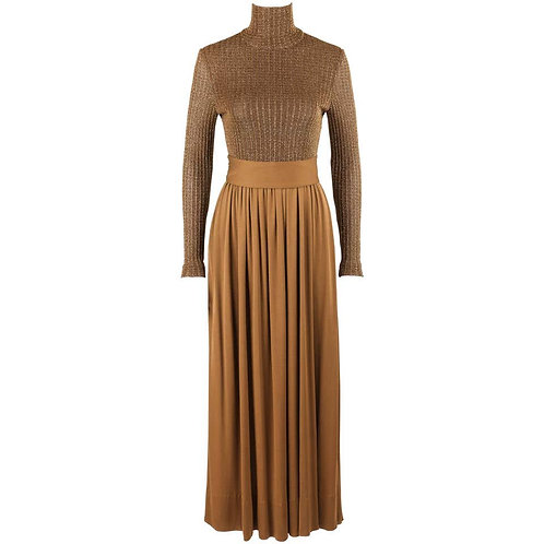 Rodrigues Metallic Knit Evening Gown
