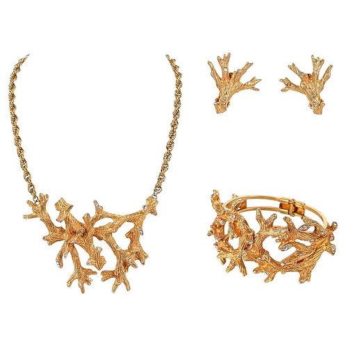 Hattie Carnegie Bracelet Earrings Necklace Set