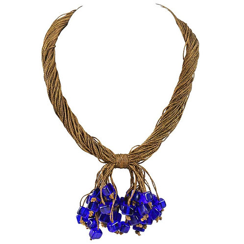 c.1920's Antique Glass Beaded Necklace